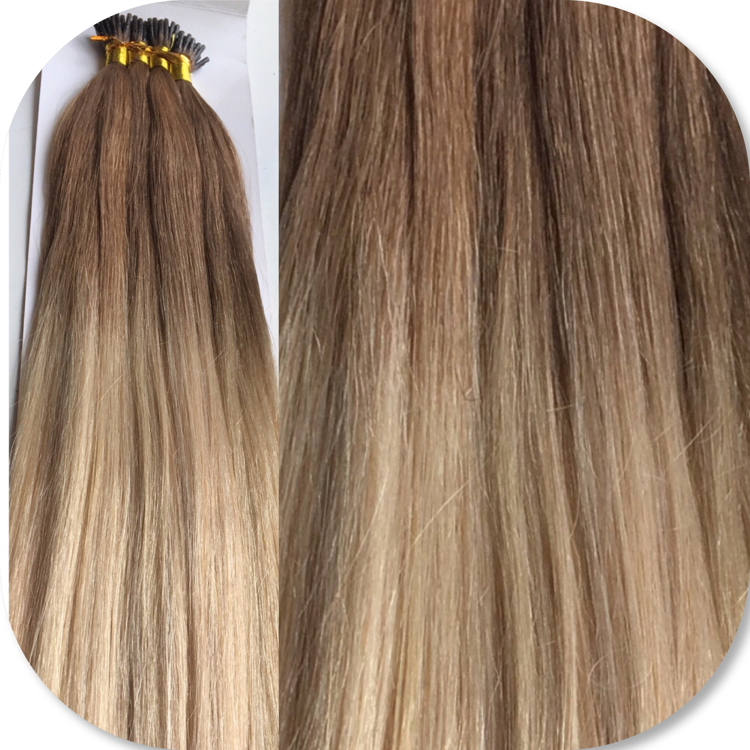 822 Ombre 20 Itip Virgin Remy Range Mooi Hair Extensions